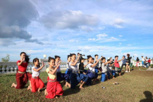 Champey Students' New Year's Eve at Bokor Mountain