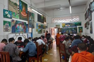 Champey Academy classes were packed with students in February 2021
